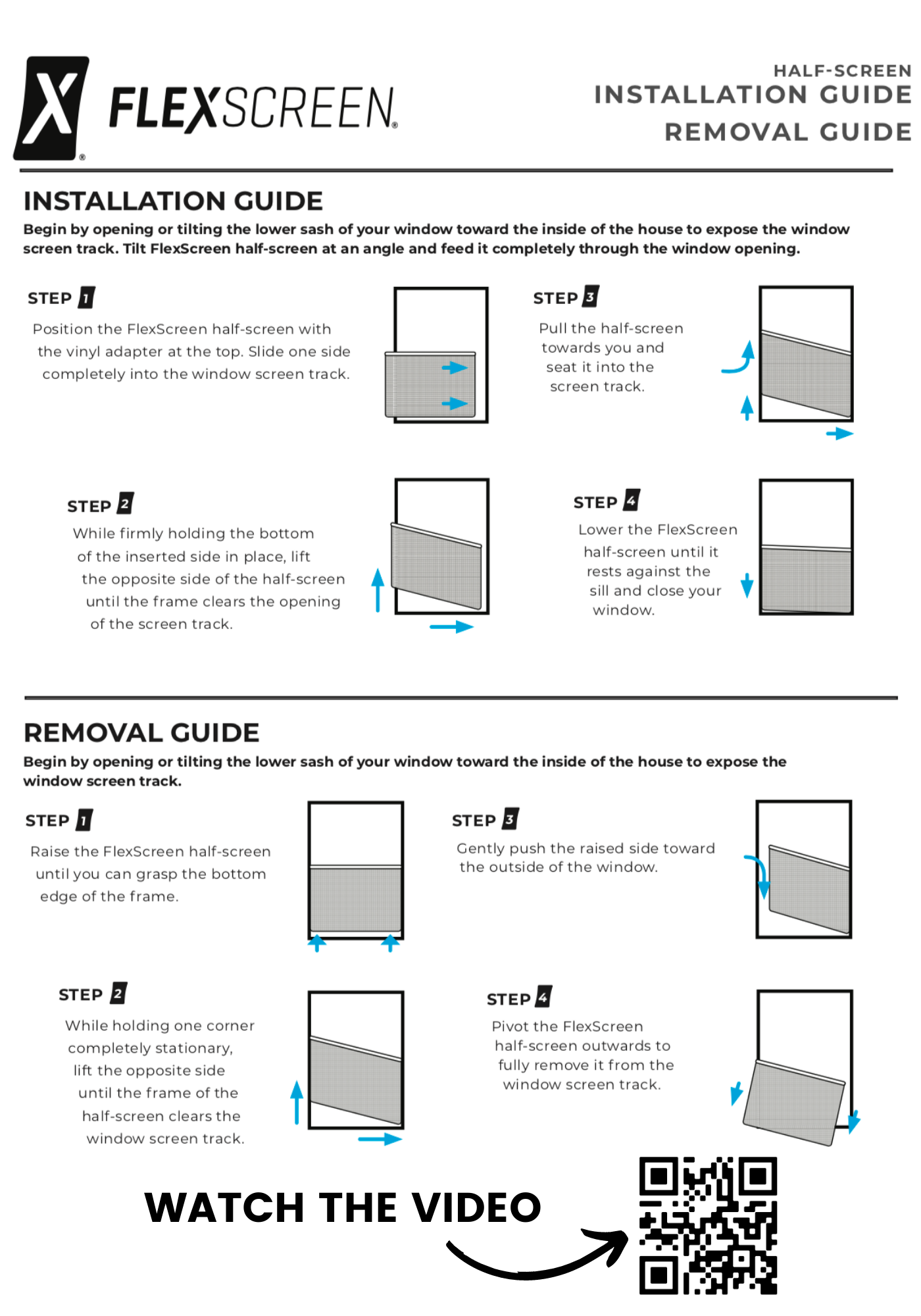 Half Screen Install and Removal Guide